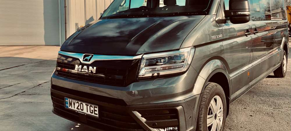 Britannia Towbars takes delivery of an outstanding new MAN TGE