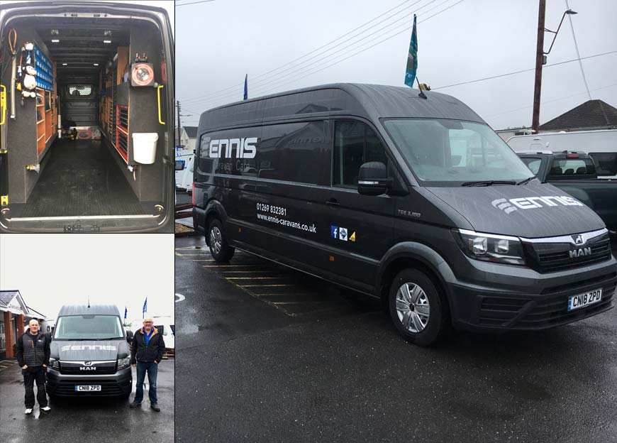 Ennis Caravans: With Their New MAN TGE Van from WG Davies
