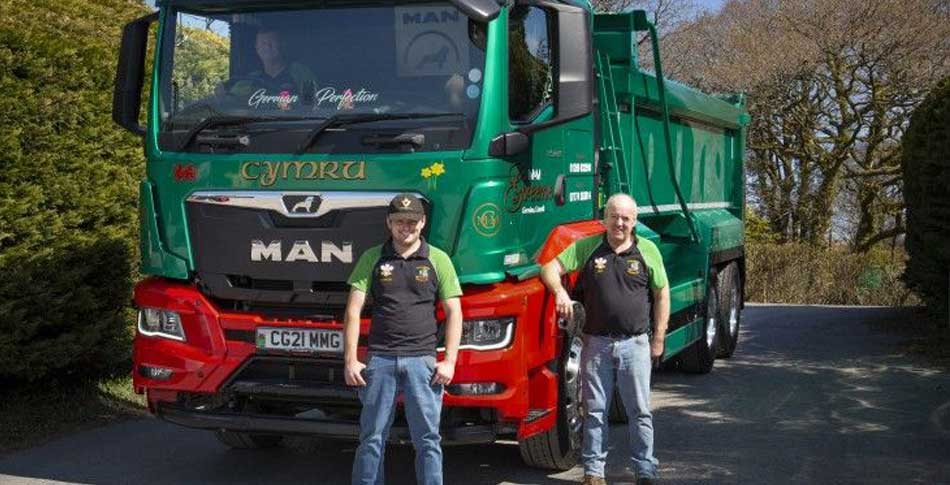 M&M Greene's brand new MAN TGS 8x4 quickly gets down and dirty in South Wales