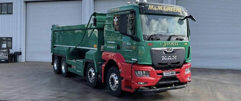 New MAN 8x4 Tipper for M&M Greene