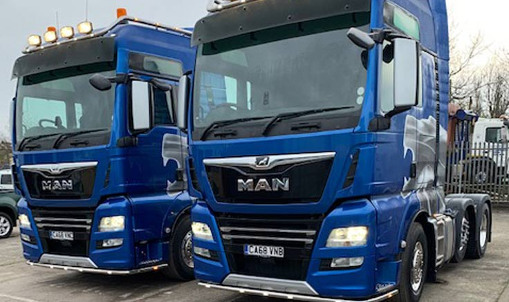 AJT Recycling Raising their game with 2 new MAN TGX 26.640 tractors