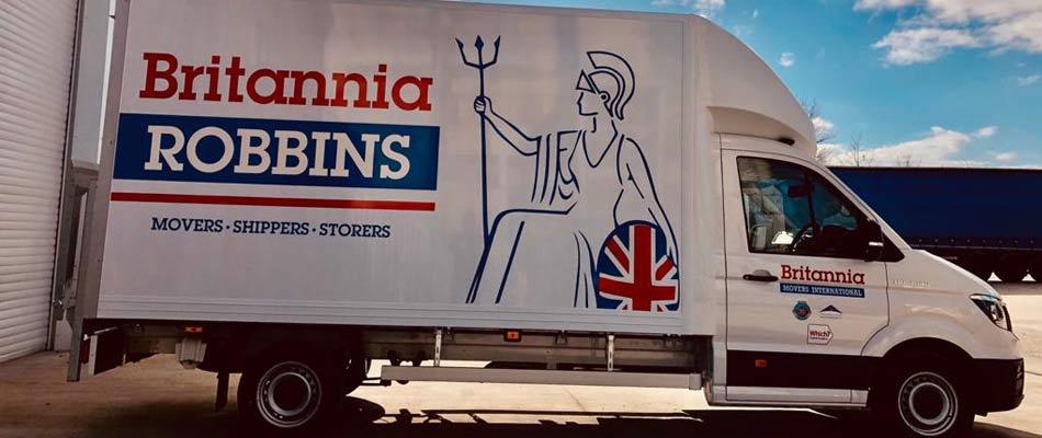 New MAN TGE Luton Van for Britannia Robbins