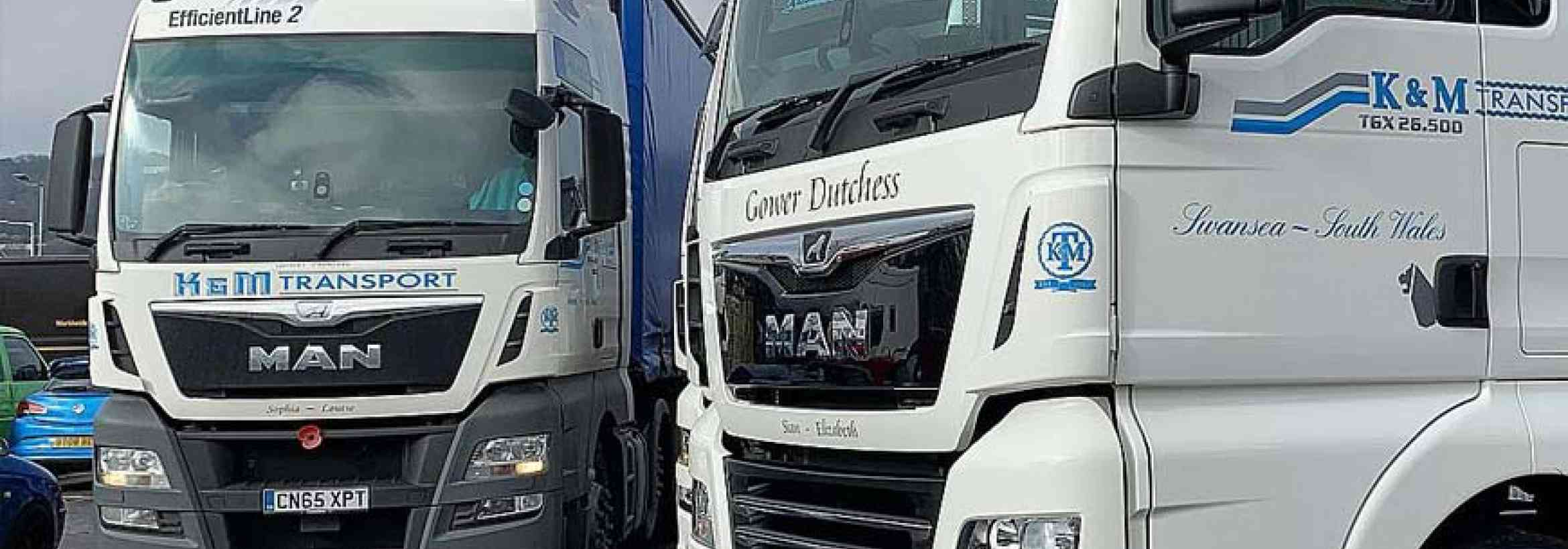 904d246d50 K   M Transport takes delivery of two new MAN tractor units