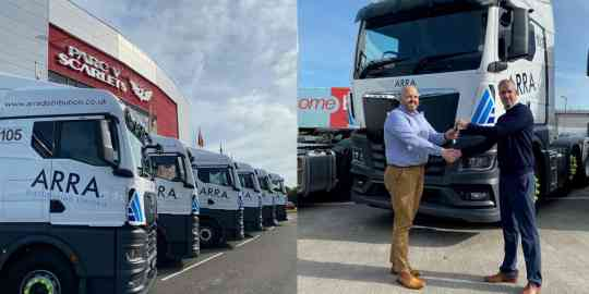 Big delivery of TGX trucks to a new customer - ARRA Distribution Limited