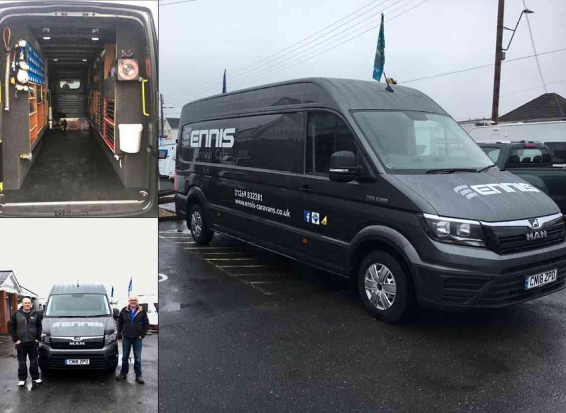 Ennis Caravans: With Their New MAN TGE Van from WG Davies