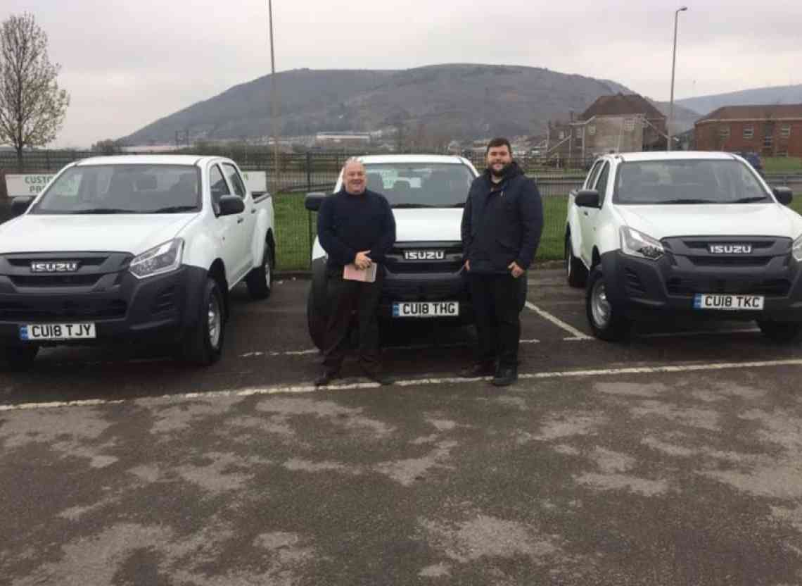 Runtech of Port Talbot fleet takes 6 New Isuzu D-Max Utility Trucks