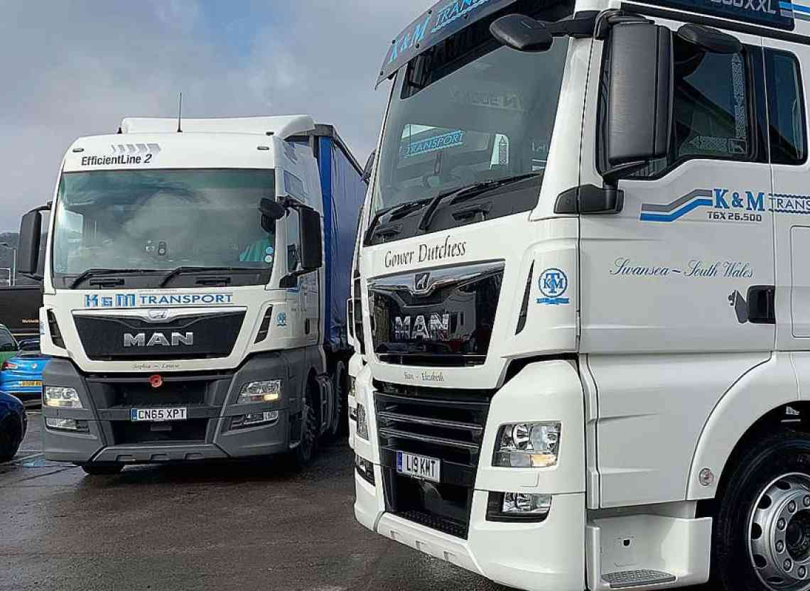 K & M Transport takes delivery of two new MAN tractor units