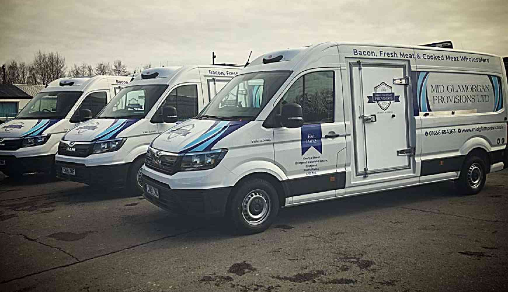 Mid Glamorgan Provisions take 3 brand new MAN TGE Fridge/Freezer Vans